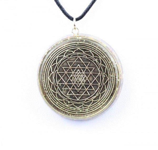 "Orpanit® Orgonit Anhänger Exclusive ""Sri Yantra"""