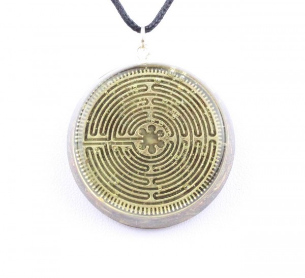 Orpanit® Orgonit Exclusive Amulett Labyrinth Chartres